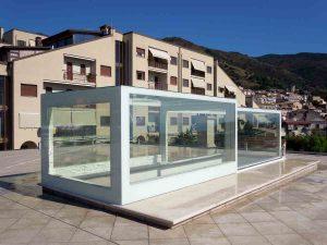 lucernari per tetti piani, su misura in vetro apribili