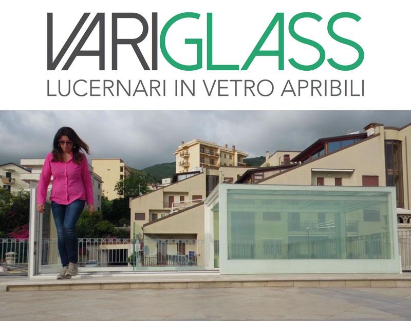 Lucernari in vetro apribili Variglass